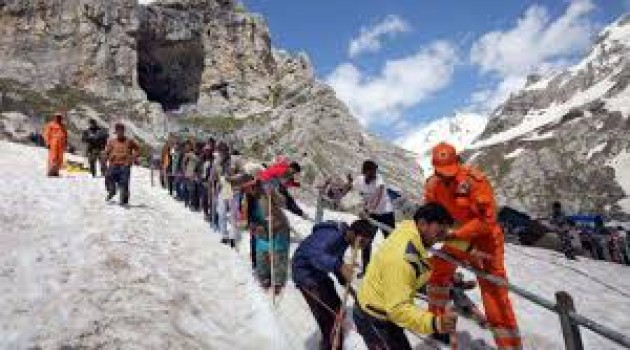 Batch of 3627 pilgrims leave for Amarnath Cave Shrine from Jammu