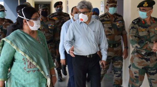Atal Dullo reviews facilities at Covid hospitals of Army, CRPF
