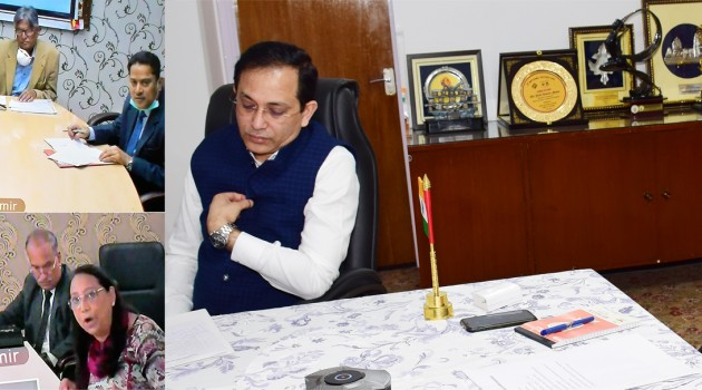Lt Governor reviews the preparedness of Universities against COVID-19