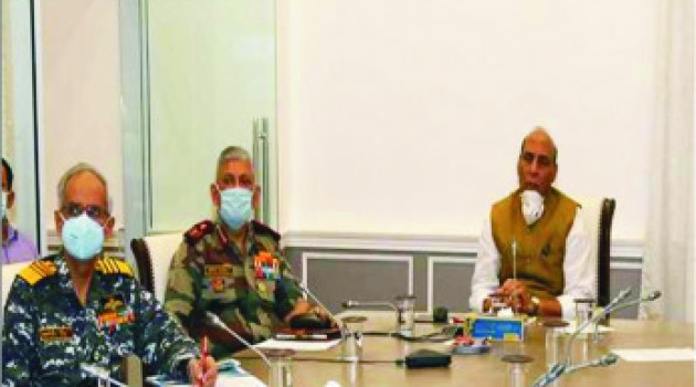 Ensure adversary does not exploit current situation: Rajnath to Armed Forces
