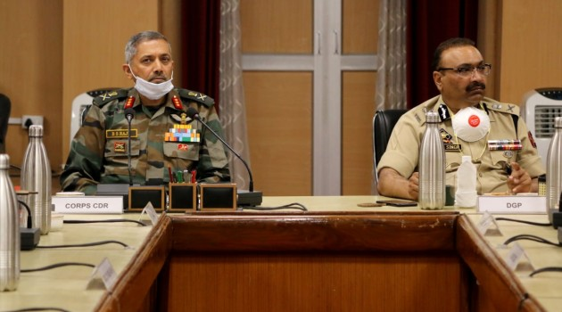 Core Group Of Army, Police Reviews Security Situation in Kashmir