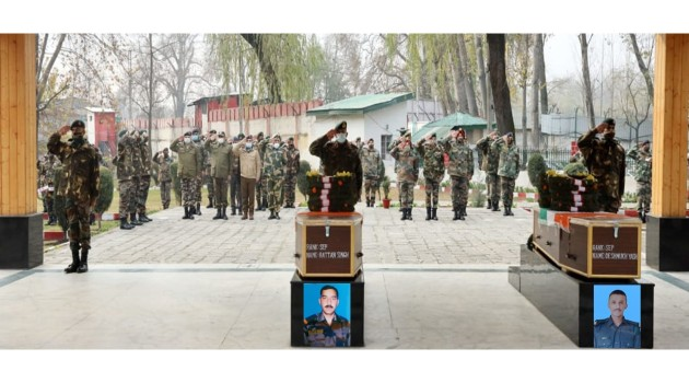 HMT Attack: Army Pays Tribute to its two Soldiers killed yesterdays attack.