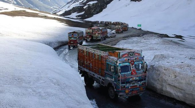 Srinagar-Leh highway closed for winter months due to slippery road conditions
