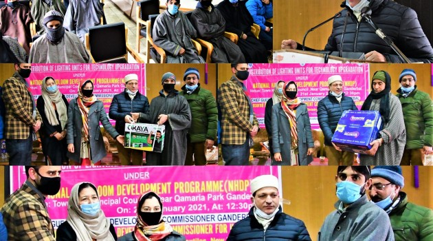 DDC Ganderbal distributes over 67Solar Lighting Units among weavers of district
