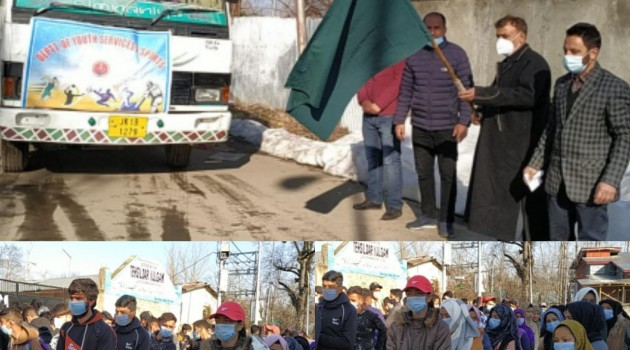 DC Kulgam flags-off 81 students for inter-district sports competitions