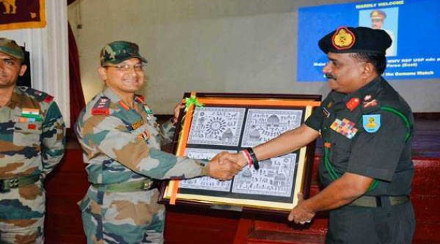 Mitra Shakti: Sri Lankan Army officer interacts with Indian troops