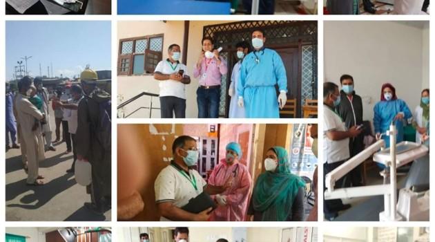 CMO Budgam inspects quarantine centres/health institutes