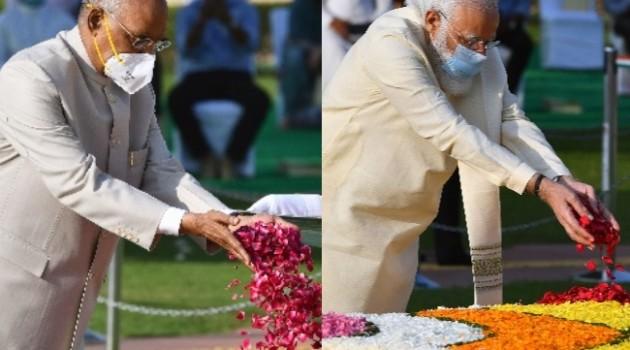 President, PM pays tributes to Mahatma Gandhi