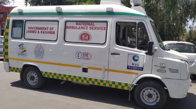 108 ambulances serving the people of JK during Covid