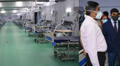 Today inaugurated 500-bedded DRDO COVID Hospital at Khonmoh, Srinagar.