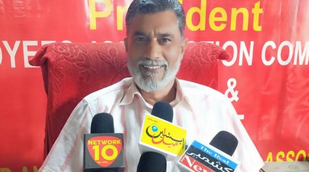 Reyaz Ahmad Sofi President Joint Employees Action Committee, Greets People On Eid – ul – Azha, People should remember needy families: Sofi Said