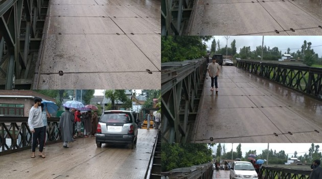 District Administration restored Bailey Bridge at Chawalgam in record time