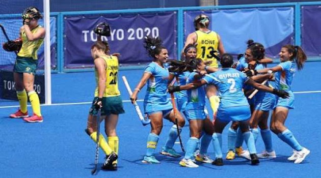 Indian women's hockey team beat Australia 1-0, reach Olympic semi-final for first time