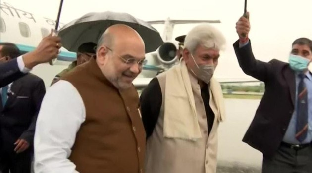 Shah in Kashmir first time after revocation of Article 370