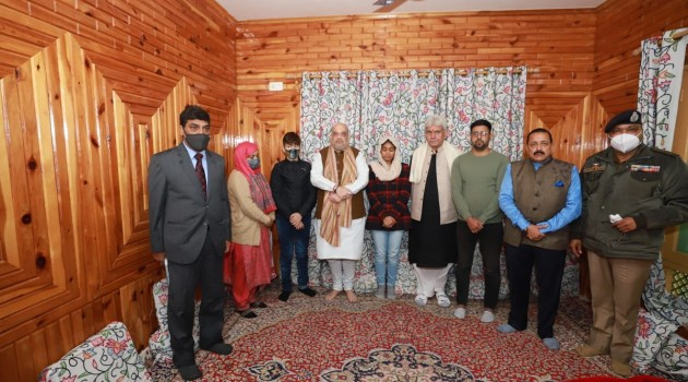 Shah reviews security situation counter-militancy measures in Kashmir